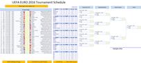 Uefa Euro 2016 Calendar in Excel