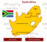 2010 World Cup South Africa Map in Excel