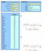 2010 World Cup South Africa Calendar Settings